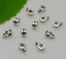 Free Ship 100Pcs Tibetan Silver Spacer Bail Beads Charms Jewelry Making 6x3mm