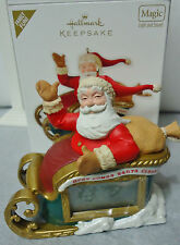2012 HALLMARK Countdown to Christmas Santa and Sleigh Ornament NEW in Box