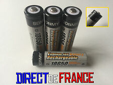 4 PILES ACCUS RECHARGEABLE BATTERIE 18650 Li-ion 3.7V 4800Mah BATTERY PUISSANT