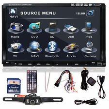 "Camera+Map+ Sony Lens Double 2Din In Dash 7"" Car Stereo Radio Player BT iPod Mp3"