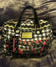 "Betsey Johnson ""Betseyville""   Houndstooth with Ruffles Hobo Sholder Bag"