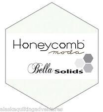 """Moda FABRIC Honeycomb ~ BELLA SOLIDS - WHITE ~ 9900HC 98 - 6"""" Hexagons"""