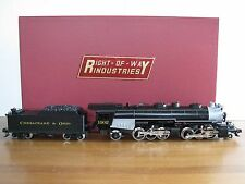 "Right Of Way Industries Ajin Brass O Scale C&O ""H6"" 2-6-6-2 Steam Engine EX"
