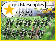 Greenfield Ride on Mower bolt, nut & washer sets x 10pr