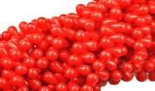 100 Opaque Red Glass Tear Drop Beads 6MM