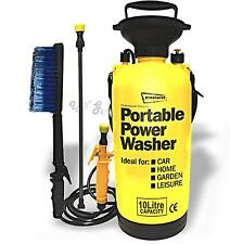 Totally Portable 10L 40psi Power Pressure Washer Jet Brush Spray Hand Pump Boat