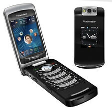 Unlocked Original BlackBerry 8220 Pearl Flip Black Smartphone WiFi FULL SET
