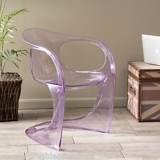 Modern Design Transparent Purple PC Curvy Accent Ghost Chair