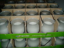 CITRONELLA CANDLES IN FROSTED GLASS JARS X 6