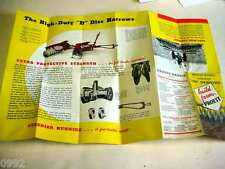"Massey Harris #30 Tractor Disc Harrows 1920's-1930's Brochure 12""x18"""