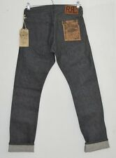 Rrl ralph lauren gris raw rigide japanese selvedge denim slim fit jeans 28 x 30