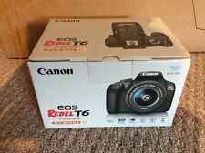 Canon EOS Rebel T6 18.0 MP Digital SLR Camera - Black / BODY ONLY - NO LENS NEW