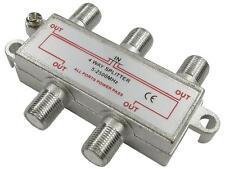 4 Way F Connector Splitter M 4 X F