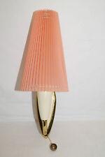 50iger Jahre Zugschalter Wandlampe rosa Tütenlampe Falttüte