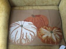 """Pottery Barn Pottery Barn Pumpkin Embroidered Lumbar Pillow 16x26"""" New with Tags"""