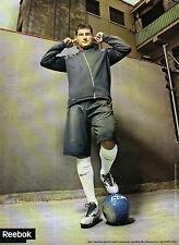 Publicité 2008  REEBOK basket sport chaussure collection mode IKER CASILLAS