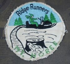 """Vintage 1970's Ridge Runners Mount Horeb WI Snowmobile Club Patch 3.75"""""""