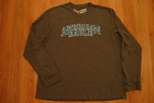 American Eagle Outfitters Varsty Charcoal Gray Shirt XXL AE Crew Long Sleeve 2XL