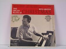 """KEN GRIFFIN """"ORGAN AT CHRISTMAS""""  EPw/PS TITLES ON COVER"""