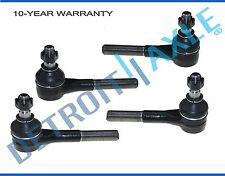 4 pc Set NEW Front Driver and Passenger Inner + Outer Tie Rod for Dodge Vans 2WD