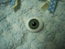 REAL LIFE OvAL GLaSs EyEs 20MM  GrAy GrEeN ~ REBORN DOLL SUPPLIES