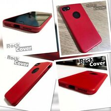 Apple iPhone 7 Case Silicone Leather Tech 2017 Protective Cover Red