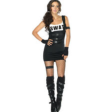 Leg Avenue Sultry SWAT Officer Costume Adult Police Cop Halloween M/L 83850