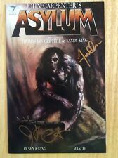 SIGNED x3 John Carpenter's Asylum Comic Issue #9 New Olsen Sandy King + Pic RARE