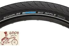 "SCHWALBE BIG APPLE 26"" X 2.35"" BLACK WIRE BEAD TIRE W/ REFLECTIVE SIDEWALLS"