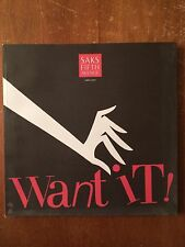 "SAKS FIFTH AVENUE Catalog ""Want it! For Her""  September 2006   Brand New"