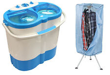 Twin Tub Washing Machine Spin Dryer With Hot Air Clothes Drier Student Travel
