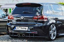 Sonderaktion Heckansatz Heckeinsatz Diffusor aus ABS für VW Golf 6 R MK6