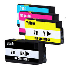 4PK Compatible For HP 711 HP711 Ink Cartridges For HP designjet T120 T520 Series