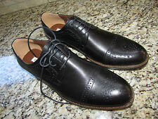 NEW STEVE MADDEN VALENCIO BLACK LEATHER OXFORD SHOES MENS 9.5 DRESSY CASUAL