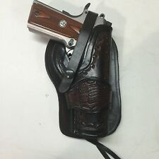"""Colt 1911 5"""",Springfield,Remington  Leather Western Holster  Antique Finish"""