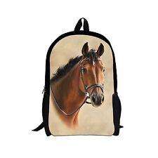 Animal Horse Unisex Women Girl Backpack Satchel Rucksack Schoolbag For Teenagers