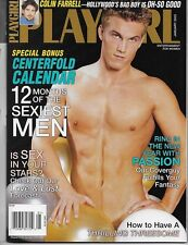 PLAYGIRL JANUARY 2003! COLIN FARRELL! DANIEL JACOB! DERRICK! FREE CALENDAR! GAY