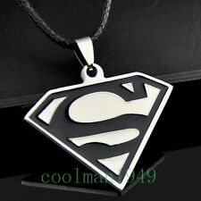 COOL MAN BOY Superman Pendant Stainless Steel Necklace ST147
