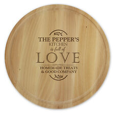 PERSONALISED WOODEN CHOPPING BREAD BOARD Wedding Anniversary New Home Gift Idea