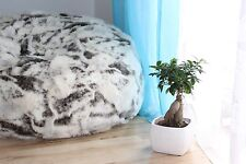 LARGE LUSH & SOFT GOAT FAUX FUR BEAN BAG CLOUD CHAIR COVER