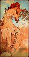 5 Prints Alphonse Mucha Art Nouveau Four Seasons Prints Autumn Winter Spring NEW
