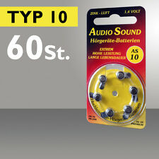 60 Audio Batteries pour Appareil Auditif Type 10 PR70 ZL4