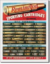 "12 1/2"" X 16"" REMINGTON SPORTING CARTRIDGES METAL SIGN NEW"