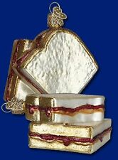 """Peanut Butter & Jelly Sandwich"" (32157) Old World Christmas Glass Ornament"