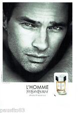 PUBLICITE ADVERTISING 046  2010  Yves Saint Laurent parfum l'Homme O. Martinez