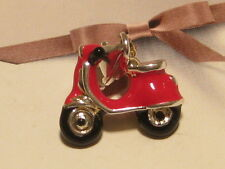 3D RED VESPA SCOOTER BIKE CHARM - FIT CARRIER LINK BRACELET