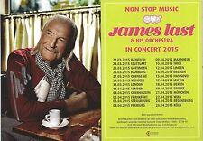 Autogramm AK James Last verstorbener Bandleader letztes Kartenmotiv vor Tod 15-1