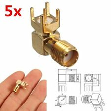 5x RP-SMA Female Jack Right Angle Solder PCB Mount RF Connector Coaxial Adapter