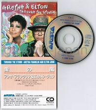 "ARETHA FRANKLIN & ELTON JOHN‎ Through The Storm JAPAN 3"" CD A10D-122 Free S&H/PP"