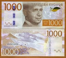 Sweden, 1000 Kronor, 2015, Pick New, Redesigned UNC
